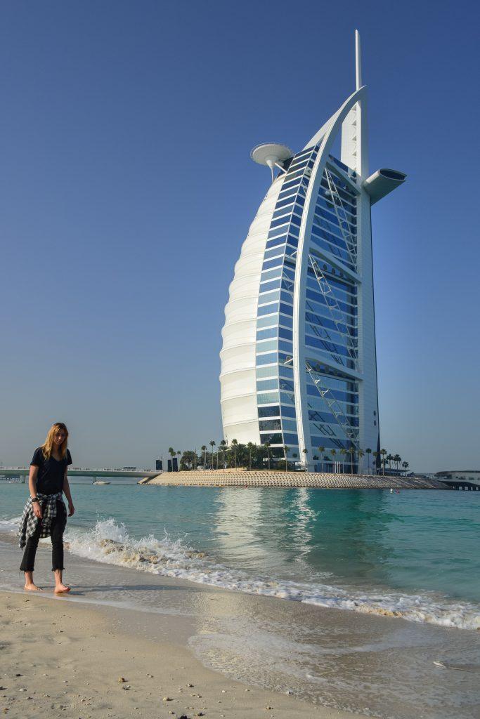 Burj al Arab Dubai hotel and beach